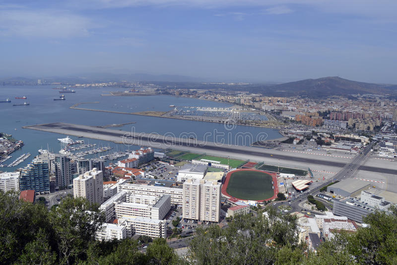 Gibraltar overview stock image