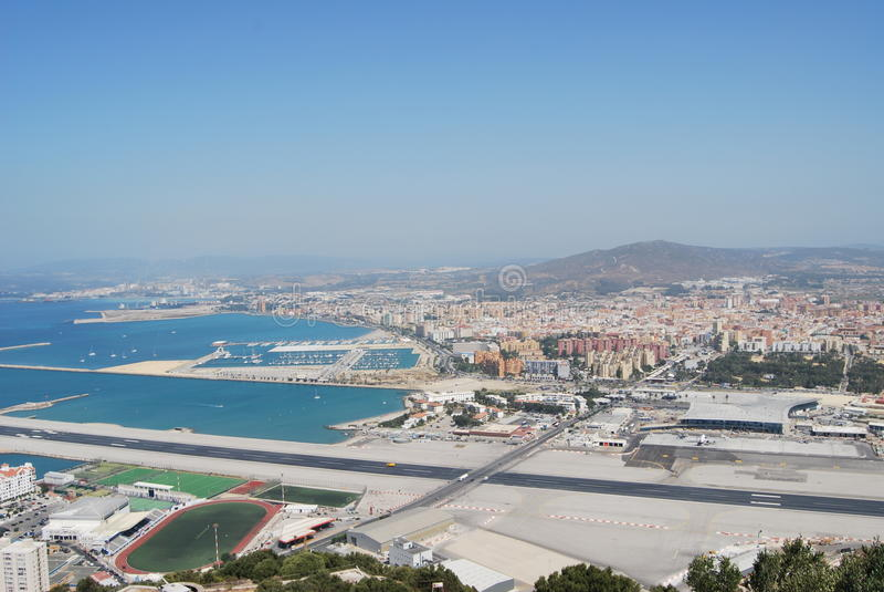 Gibraltar pas startowy obrazy stock