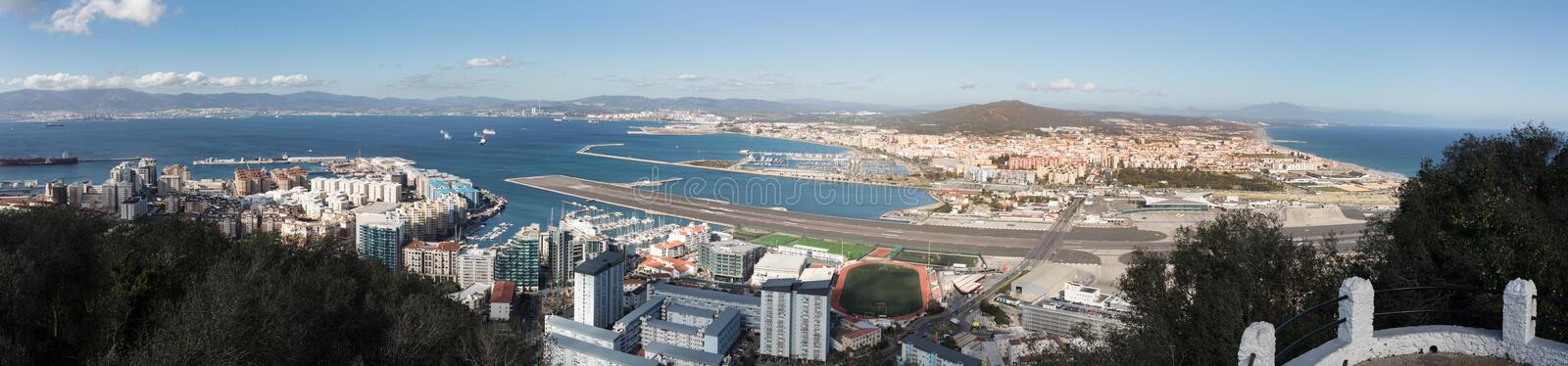 Gibraltar, points of interest in the British overseas area on the southern spit of the Iberian Peninsula, royalty free stock photography