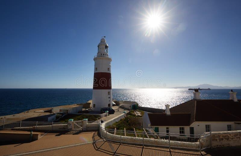 Gibraltar, punkty interes w Brytyjskim zamorskim terenie na południowej mierzei Iberyjski półwysep, fotografia royalty free