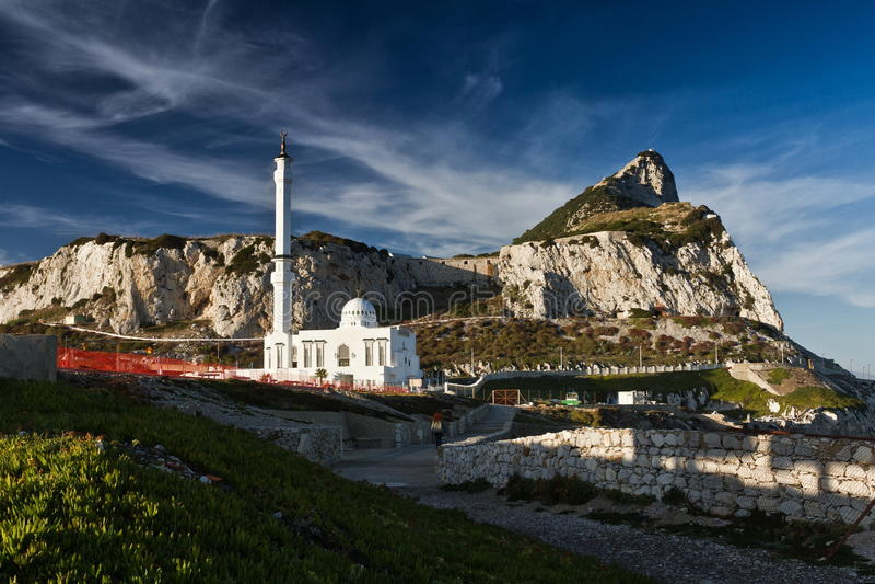 Gibraltar rock stock photo