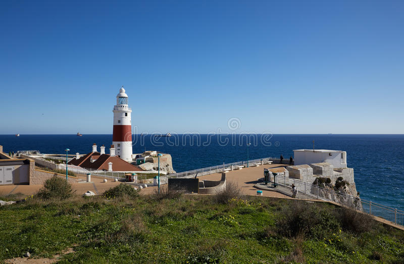 Gibraltar, Sehenswürdigkeiten im britischen Überseebereich auf dem südlichen Spucken der Iberischen Halbinsel, stockfoto