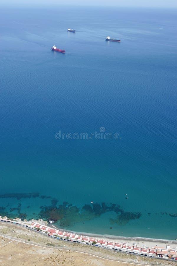 gibraltar skały napiwki widok fotografia stock