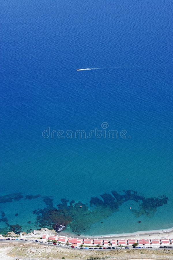 gibraltar skały napiwki widok obraz stock