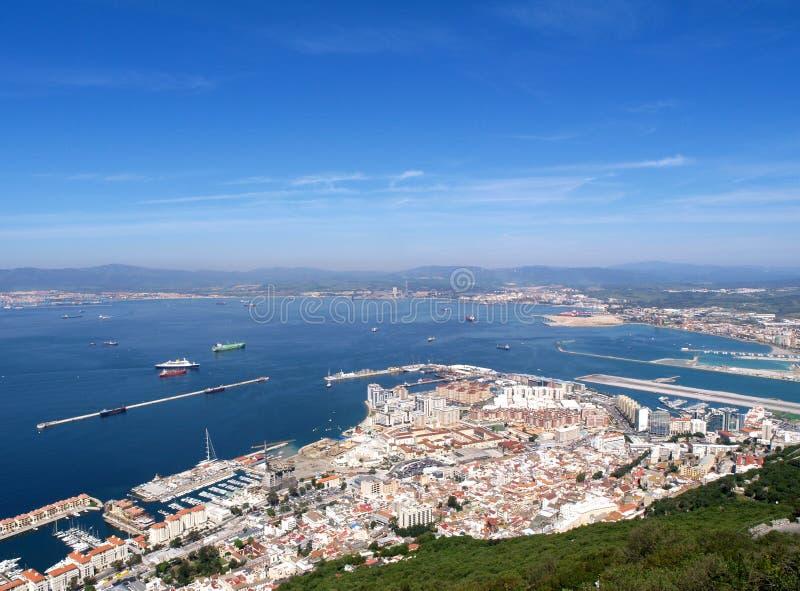 Gibraltar-Stadt stockfotografie