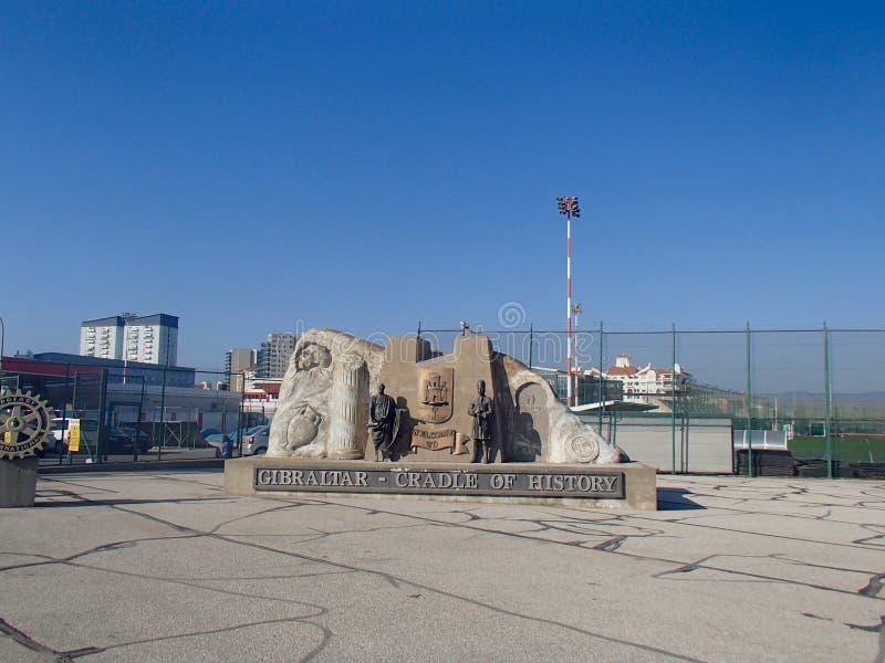 Gibraltar-Wiege der Geschichte lizenzfreie stockbilder