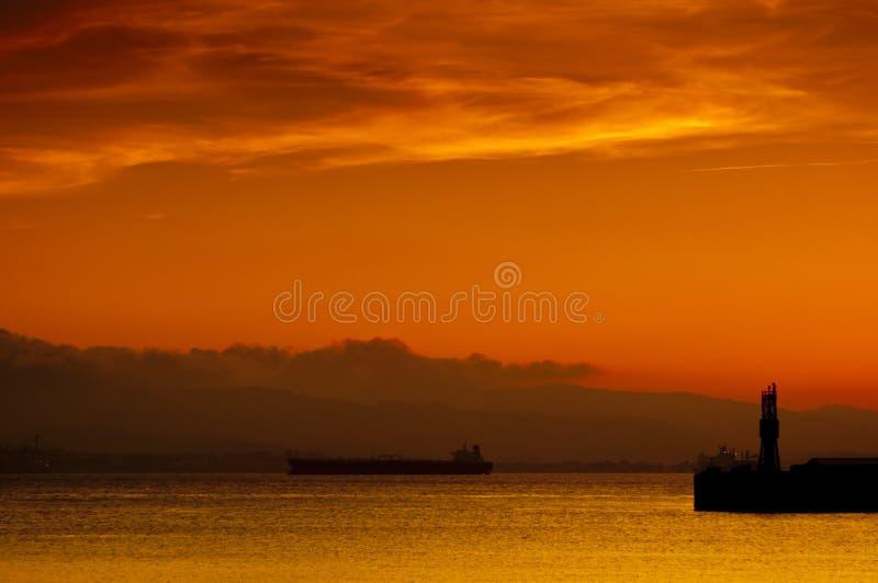 gibraltar złoty schronienia zmierzch zdjęcie royalty free