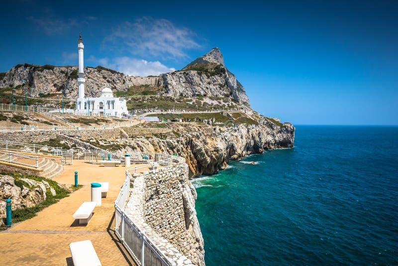 Gibraltar zoals die van Europa Punt wordt gezien stock fotografie