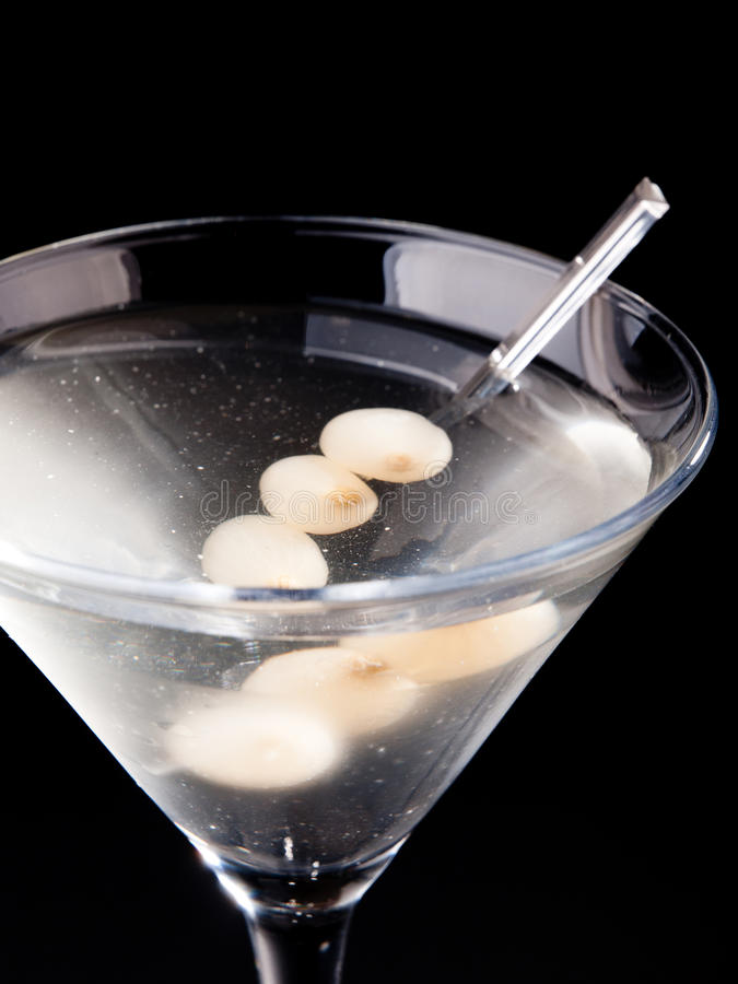 Gibson Cocktail royalty free stock images