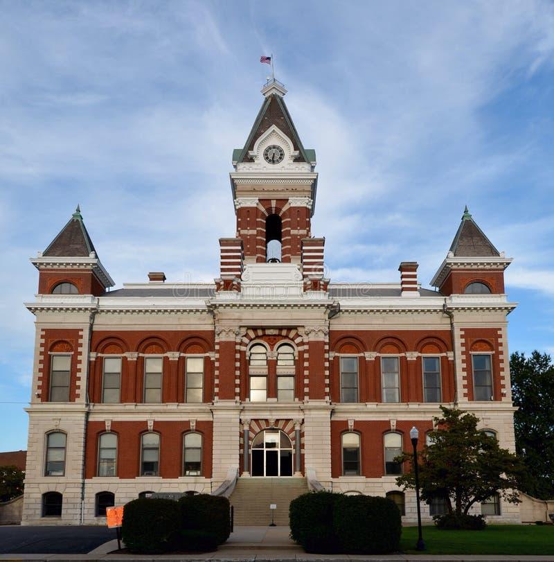 Gibson County Courthouse foto de stock