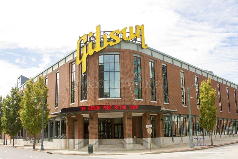 Gibson Guitar Factory, Memphis, TN immagini stock libere da diritti