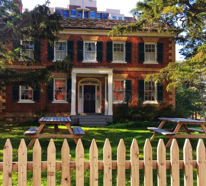 Gibson House Museum en York del norte, Ontario fotografía de archivo