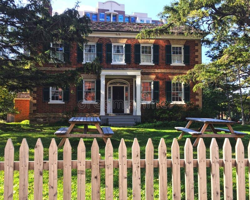 Gibson House Museum in Noord-York, Ontario stock fotografie