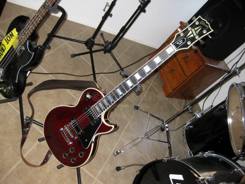 Gibson Les Paul Custom marrón fotografía de archivo libre de regalías