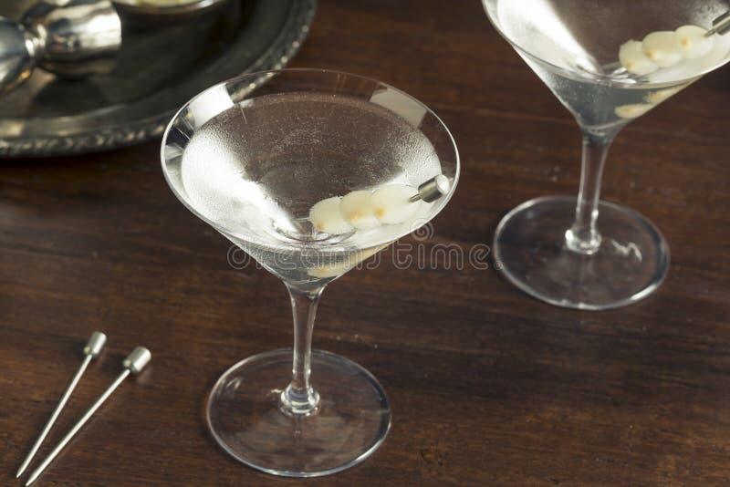 Gibson Martini embriagado caseiro foto de stock royalty free