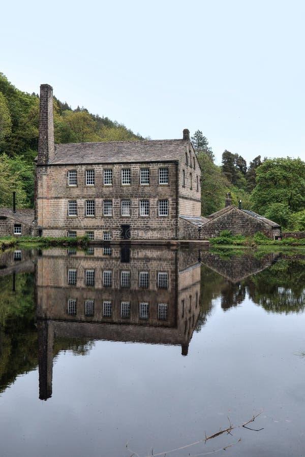 Gibson Mill, penhascos de Hardcastle fotos de stock royalty free