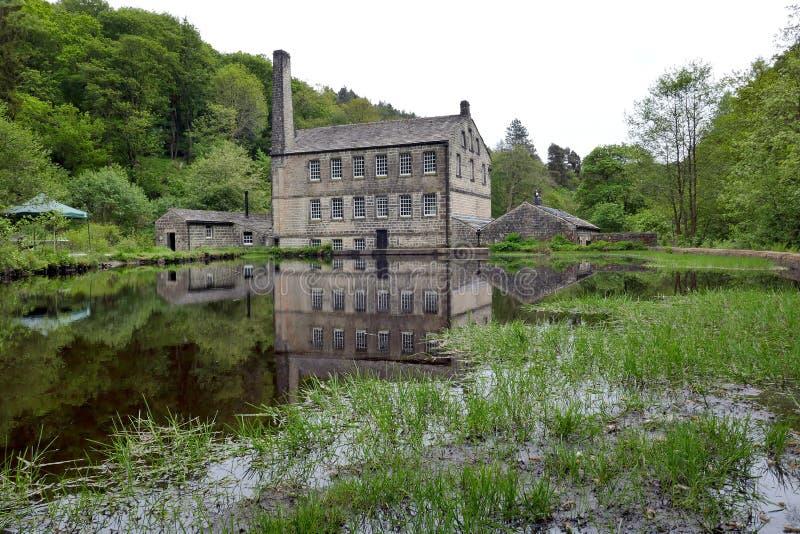 Gibson Mill, penhascos de Hardcastle foto de stock