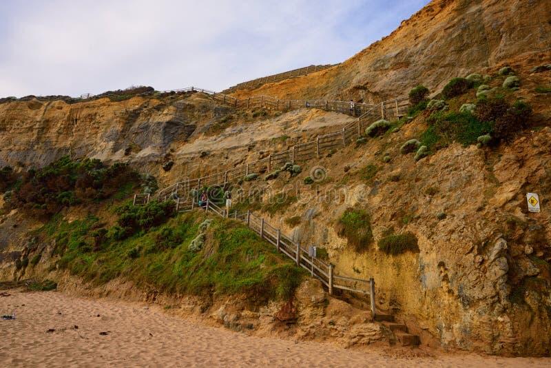Gibson Steps ao longo da grande estrada do oceano fotos de stock royalty free