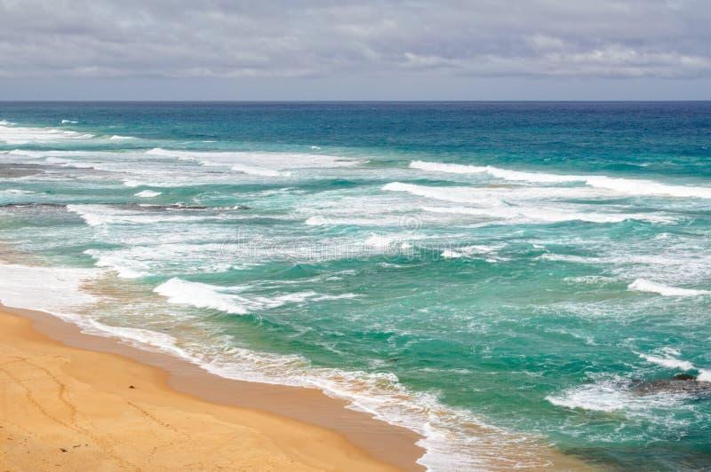Gibson Steps Beach - Port-Campbell stockfoto