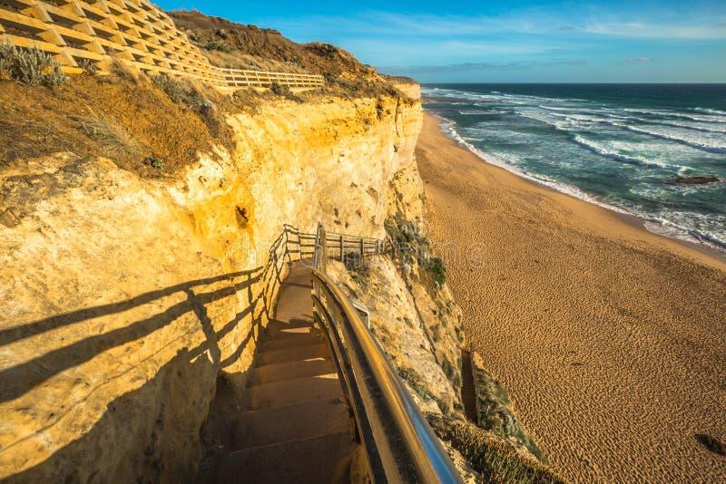 Gibson Steps en el gran camino del océano fotos de archivo libres de regalías