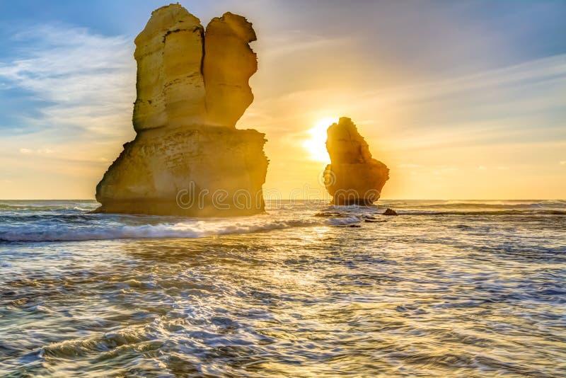 Gibson Steps på solnedgången royaltyfri foto