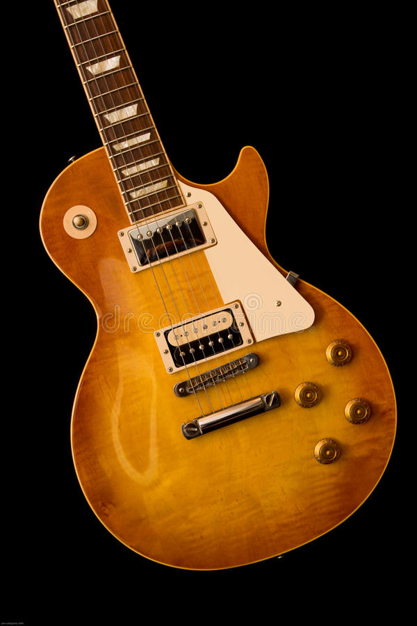 gibsonles paul royaltyfria bilder