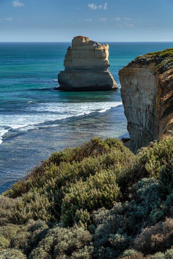 Gibsons moment, tolv apostlar, port Campbell, Victoria, Australien fotografering för bildbyråer