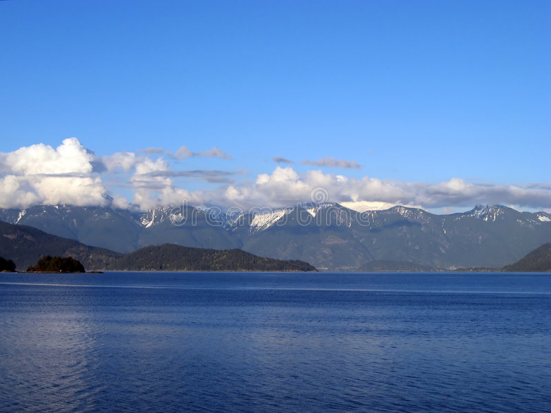 Gibsons ocean mountain view royalty free stock image