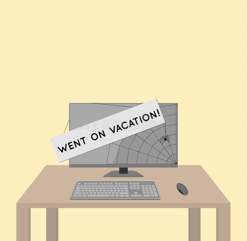 Gick på semesterbegrepp vektor illustrationer
