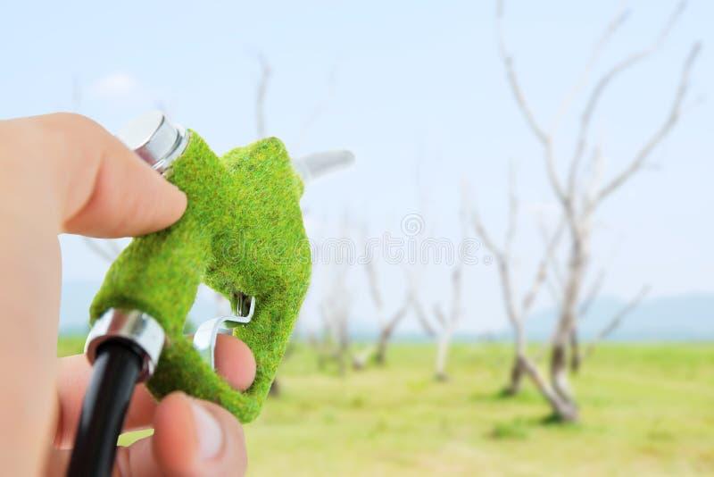 Gicleur d'essence vert photographie stock