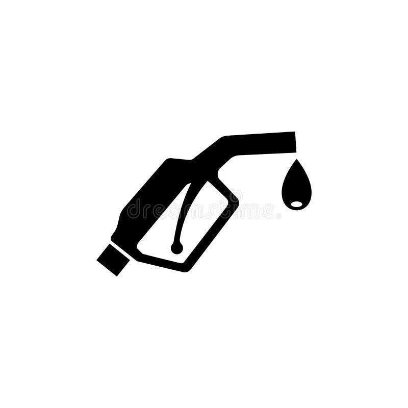 Gicleur de pompe d'essence Icône plate de vecteur de pompe à essence illustration de vecteur