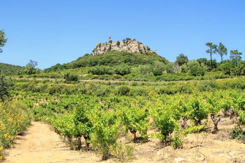 Gicon miejsce, antyczny sygnału wierza, Provence, południe Francja obrazy royalty free