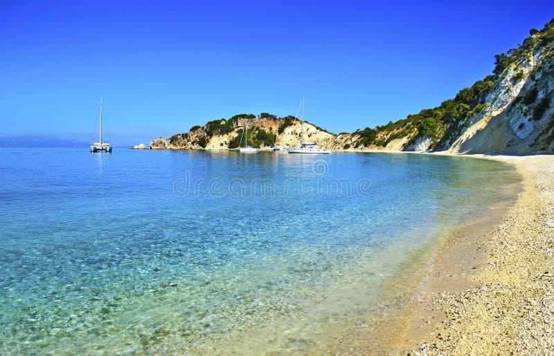 Gidaki beach in Ithaca Greece. Ionian islands royalty free stock photos