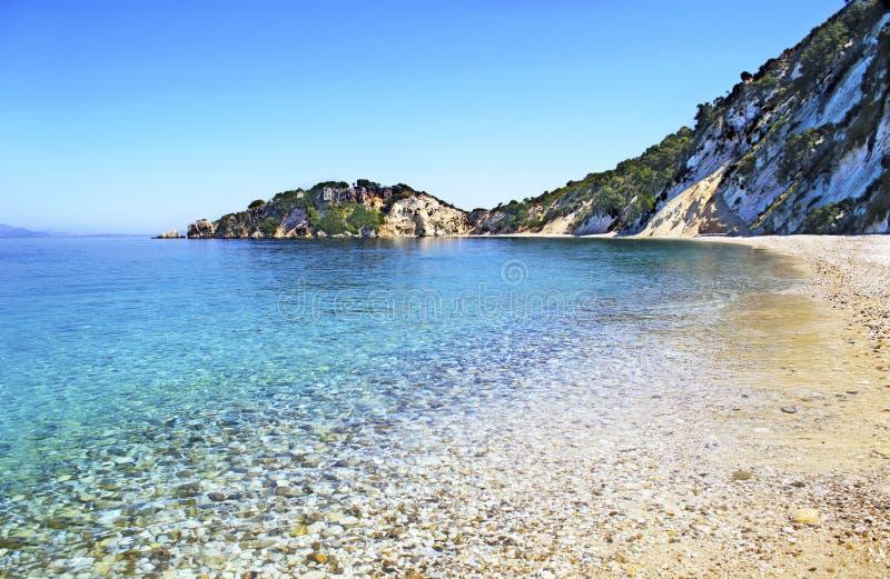 Gidaki beach in Ithaca island. Greece royalty free stock image