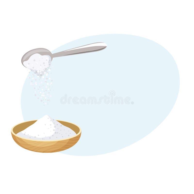 Gießen Sie Salz stock abbildung