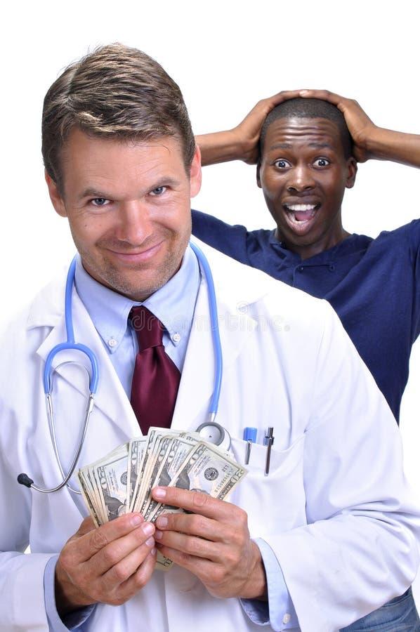 Gieriger Doktor stockfotografie