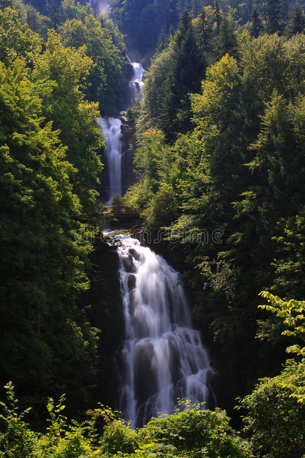 Giessbach Falls royalty free stock photos