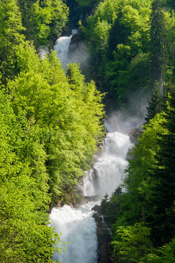 Giessbach waterfalls royalty free stock photos