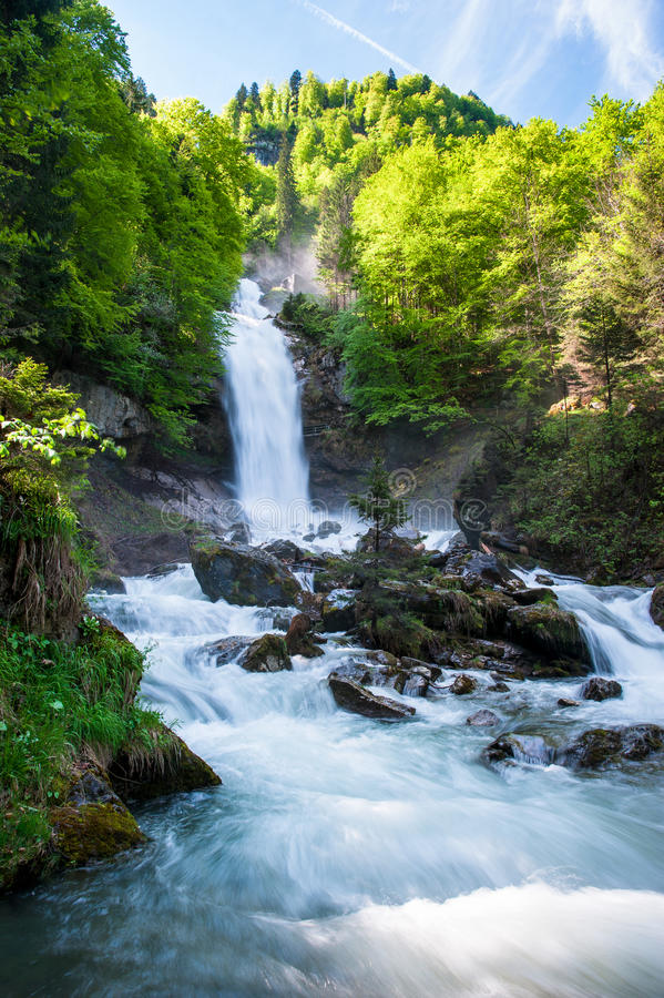 Giessbach waterfalls stock images