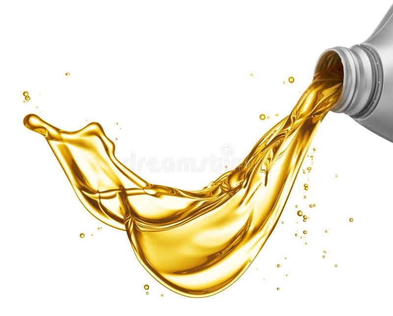 Gietende olie royalty-vrije stock afbeeldingen