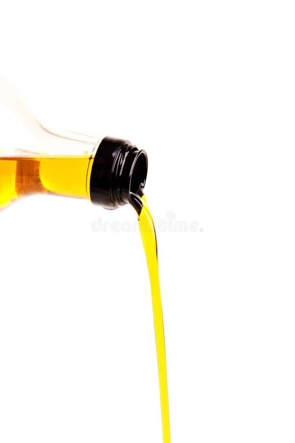 Gietende olie royalty-vrije stock afbeelding