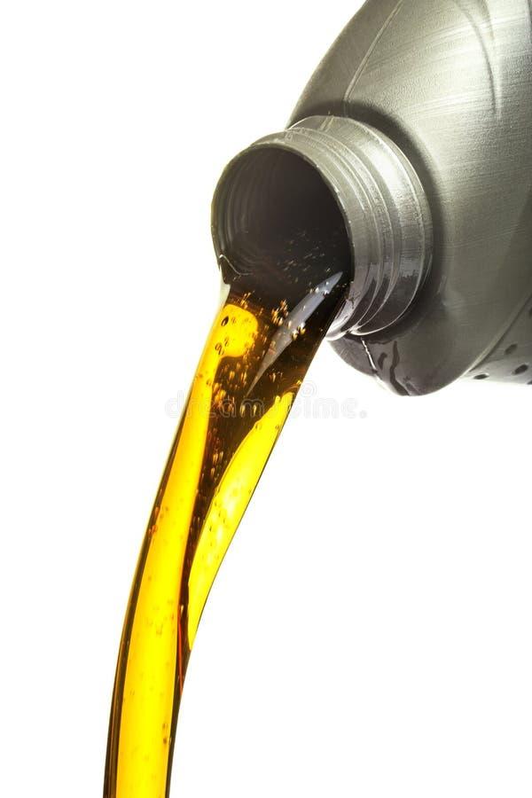 Gietende olie royalty-vrije stock foto's