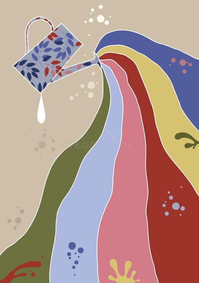 Gieter en Stroom vector illustratie