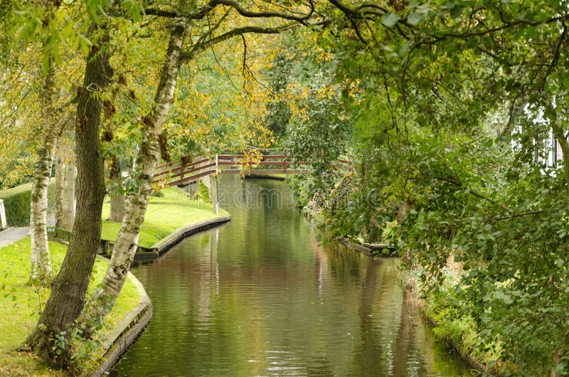 Download Giethoorn stock photo. Image of polder, cottage, clear - 34800644