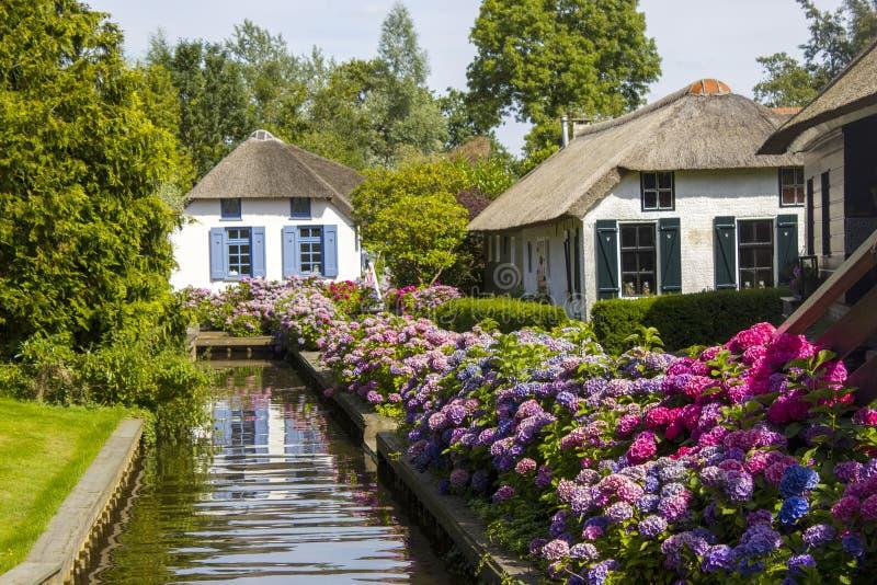 Giethoorn, die Niederlande stockbilder