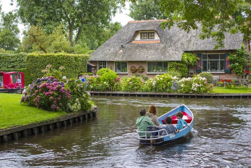 Giethoorn em Países Baixos fotografia de stock royalty free