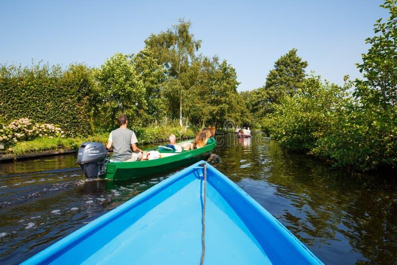 Giethoorn em Países Baixos fotos de stock royalty free