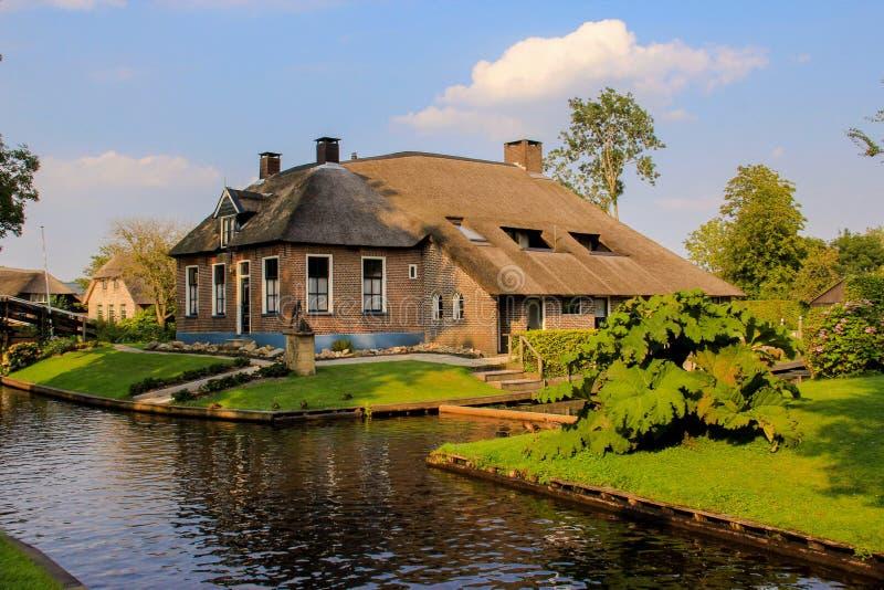 Giethoorn néerlandais images libres de droits