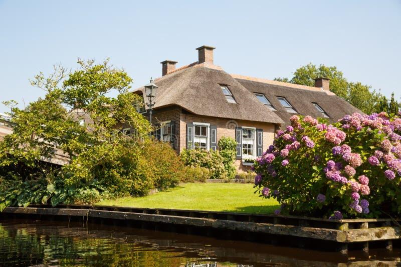 Giethoorn nos Países Baixos foto de stock royalty free
