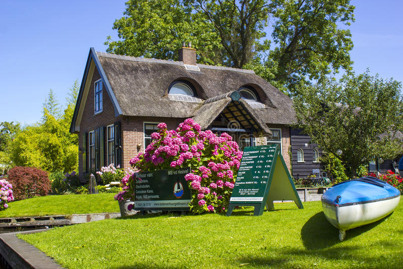 Giethoorn, Países Baixos fotografia de stock